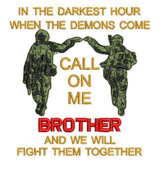 Call on Me Brother Embroidered Polo Shirt